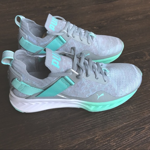 brand new d4469 457f3 Puma Ignite evoKNIT Lo Fade Running Shoe 7.5 mint